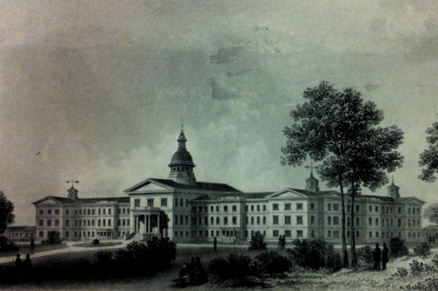 drawing of The Pennsylvania Hospital