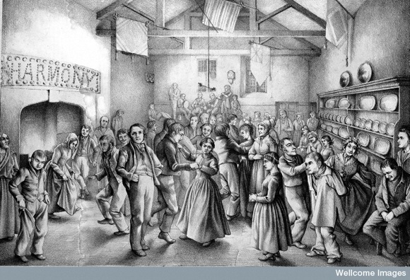 Patients dancing at the Somerset County Asylum